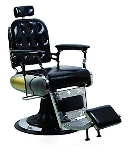 Funnylife Black Beauty Barber Chair Vintage Salon Spa Styling Chair