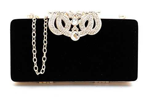 Black And White Satin Clutch Bag - 8