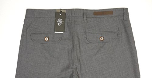 NEW $495 ELEVENTY GRAY 95% WOOL PENCES TRAVEL PLEATED CUFFED DRESS PANTS SZ 36 by Eleventy (Image #4)
