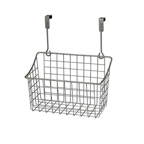 (Spectrum Diversified Grid Storage Basket, Over the Cabinet, Medium, Satin Nickel)