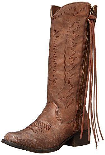 Madden Girl Womens Durant Western Boot Cognac Paris KbXDZES2Ce