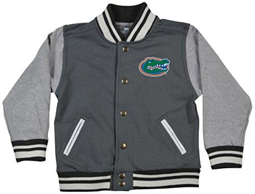 NCAA Florida Gators Children Unisex Toddler Letterman Jacket, 4 Toddler, - Florida Snap Gators