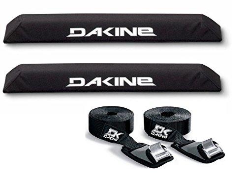 DaKine Long Aero Rack Pads with 12' Baja Tie Down Straps - Black by Dakine