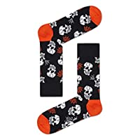 Happy Socks Unisex Halloween Skull Print Socks