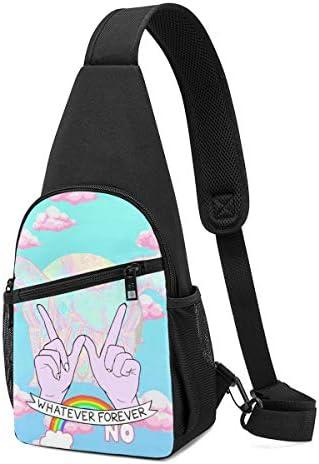 虹とユニコーン 斜め掛け ボディ肩掛け ショルダーバッグ ワンショルダーバッグ メンズ 多機能レジャーバックパック 軽量 大容量