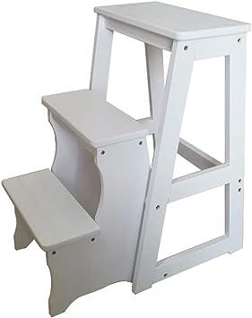 YXX-Taburete escalera Taburete Plegable for Adultos y niños ...