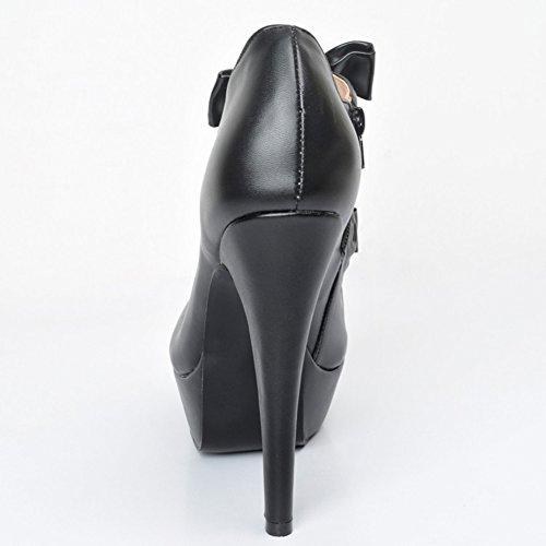 Top Slippers Hi Kolnoo Noir femme Hi Kolnoo qzt14