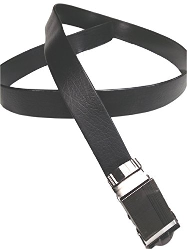NO HOLES Mens Heavy Duty Durable Automatic Buckle PU Leather Belt
