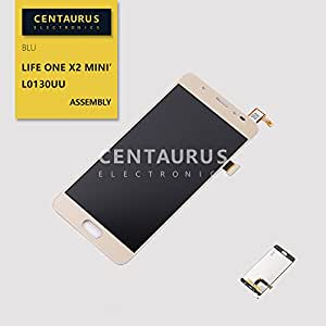 "For BLU Life ONE X2 Mini 5.0"" L0130UU New LCD Display Touch Screen Digitizer Lens Glass Assembly Gold USA"