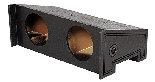 Dual 10″ Sealed Subwoofer Sub Box Bed Lined Enclosure for Jeep Wrangler 1997-02