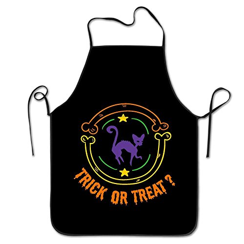 Kitchen Apron For Women Art Apron Dress Men Cooking Apron Pinafore Trick Or Treat Halloween Black Cat (Halloween Trick Or Treat Definition)