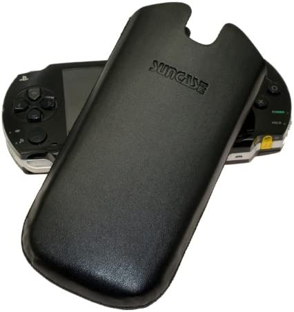 Suncase Funda de Piel Funda - Sony PSP3000/PSP3/Sony Slim & Lite (PSP 2000)/ PSP 3004 - Carcasa (compatible con) - negro: Amazon.es: Electrónica