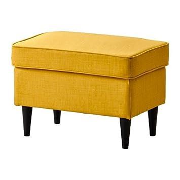 IKEA STRANDMON Hocker Skiftebo gelb