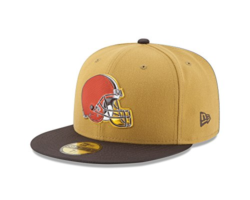 promo code 00bb6 4269e NFL Cleveland Browns Gold Collection 59FIFTY Fitted Cap, Size 734, Gold  Crown