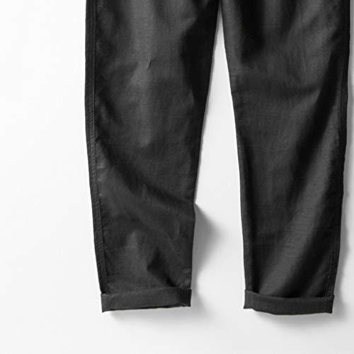 Amazon.com: Suma-ma - Pantalones de hombre de lino ...
