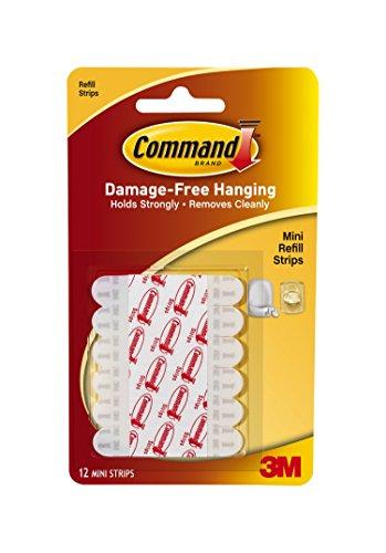Command Decorating Clip Strips S43Z25, White, 23-Strip