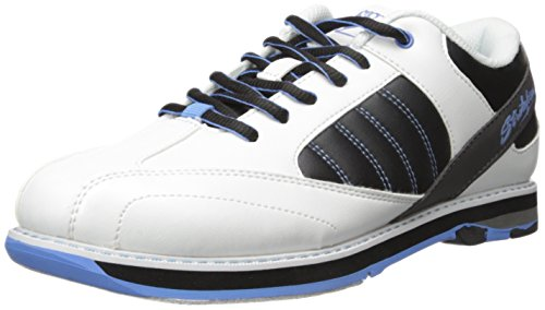 KR Strikeforce L-053-080 Mist Bowling Shoes, White/Black/Blue, Size 8 by KR