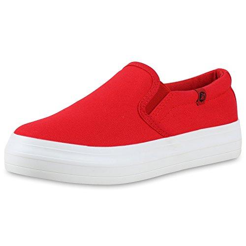 Japado - Mocasines Mujer rojo/blanco