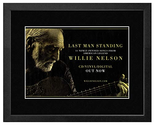Stick It On Your Wall Willie Nelson - Last Man Standing Framed Mini Poster - 28x33cm