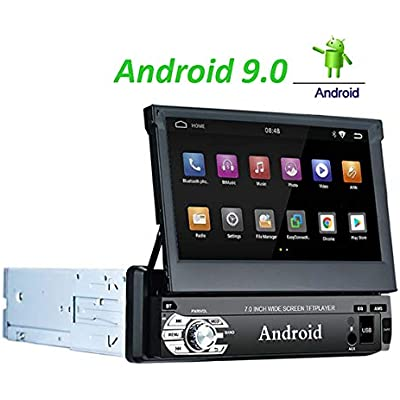 LEXXSON Android 9 0 single Din Car Stereo Navigation inch Touch Screen GPS Car Radio with Bluetooth support RDS Wifi Hands Free