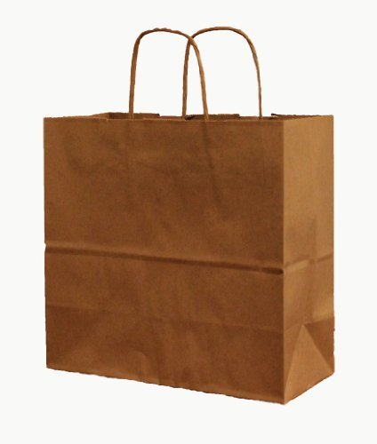 250 Debbie / Vanity Natural Kraft Shopping Bag with Handle, 10'' x 5'' x 13'' by Natural Kraft