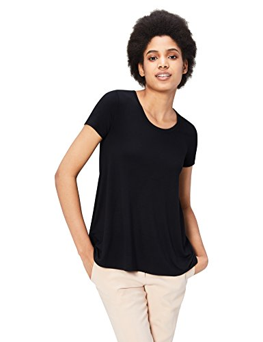Daily Ritual Women's Standard Jersey Short-Sleeve Scoop Neck Swing T-Shirt, Black, XX-Large