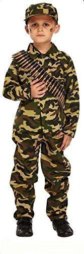 b9ad9d9a9 Boys Child s Army Military Camouflage Soldier Uniform Fancy Dress ...