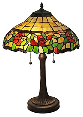 Amora Lighting AM006TL16 Tiffany Style Floral Table Lamp, 23-Inch, Multi