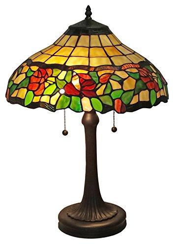 Floral Tiffany Style Lamp (Amora Lighting AM006TL16 Tiffany Style Floral Table Lamp, 23-Inch,)