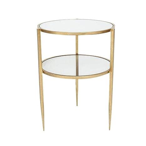 Amazon.com: Jcnfa-Tables Mesa auxiliar de metal con mesa ...