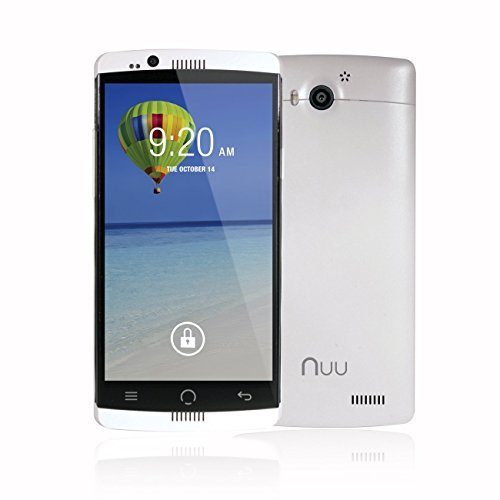 Unlocked NUU Mobile X1 5.0' HD 4G LTE 16GB Smartphone with NFC and 2-Year Ltd Warranty, White