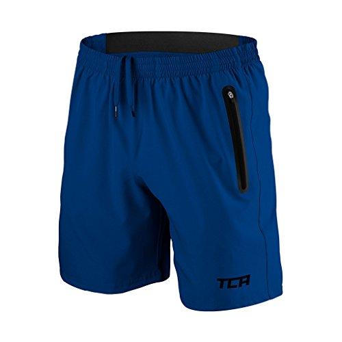 TCA Men's Elite Tech Running/Training/Gym Shorts - Mazarine Blue - M