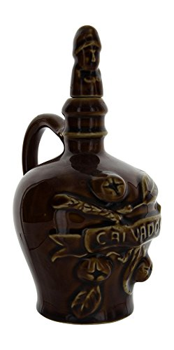 Vintage French Pottery Empty Calvados Apple Brandy Bottle ()