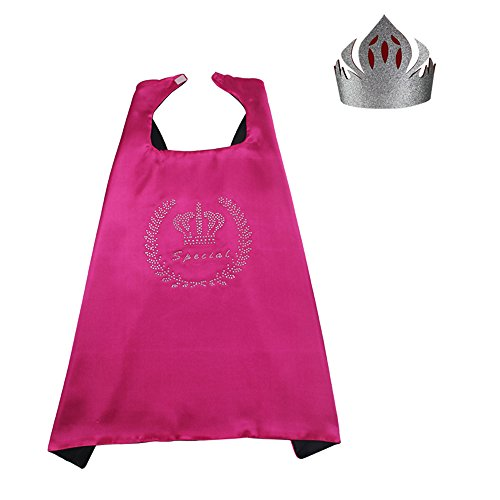 Princess Capes with Crown for Girls Dressing Up at Any Party Games Costume Gift