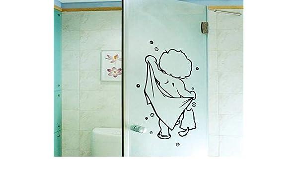 Bathroom Sticker Children Baby Shower Pattern Glass Door Decals Wall Decorations