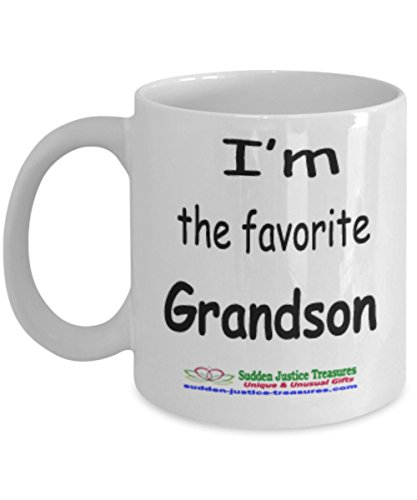 Taxi Cookie Jar (I'm The Favorite Grandson White Mug Unique Birthday, Special Or Funny Occasion Gift. Best 11 Oz Ceramic Novelty Cup for Coffee, Tea, Hot Chocolate Or Toddy)