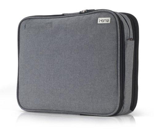 (iHome Smart Brief: 13 inch Laptop Briefcase for Mac, Heathered Grey)