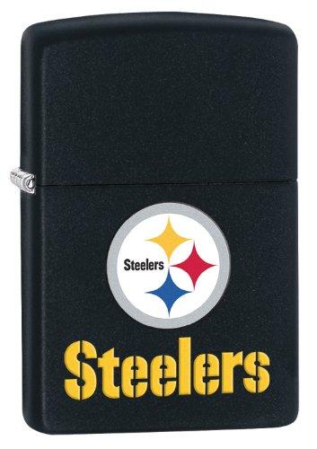 - Zippo Pittsburgh Steelers NFL Logo Black Matte Lighter, 2880