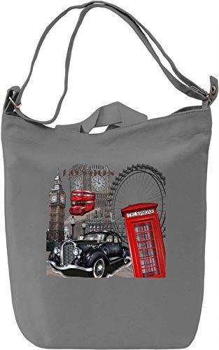 London city Borsa Giornaliera Canvas Canvas Day Bag  100% Premium Cotton Canvas  DTG Printing 