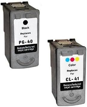 Prestige Cartridge 2 XL Compatibles PG-40 Negro & CL-41 Color Cartuchos de Tinta para Canon Pixma MP140 MP460 iP1800 iP1900 iP2500 iP2600 MP150 MP160 MP170 MP180 MP190 MP210 MP220 | Alta Capacidad: