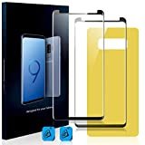 Homy Compatible [2-Pack] High Clarity UHD Screen Protector for Samsung Galaxy Note 8 - Free Back Cover & Camera Lens Cover. Full 3D Curved 9H Japanese Tempered Glass.