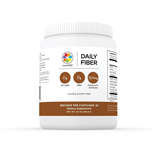 Daily Dietary Fiber - Gluten Free Fiber Powder for Daily Intake - Dietary Supplement - 40 Servings for Weight Loss from Dr Sara Gottfried Author of The Hormone Cure - Reset360
