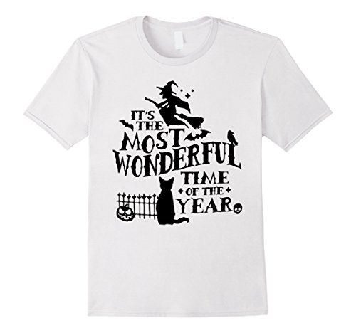 Mens It's The most Wonderful Time Of The Year - halloween T-Shirt Large White (Time For Halloween)