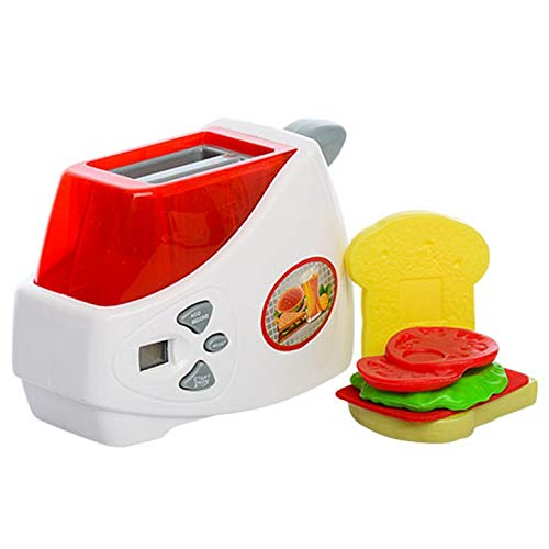Liberty Imports My First Kitchen Appliances Toy | Kids Pretend Play Gourmet Cooking Set with Lights and Sounds (Toaster) (Play Pretend Toaster)