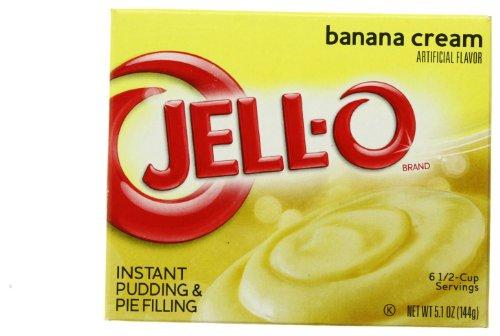 JELLO Banana Cream Instant Pudding & Pie Filling Mix (5.1oz Box) (Banana Cream Pie Made With Instant Pudding)