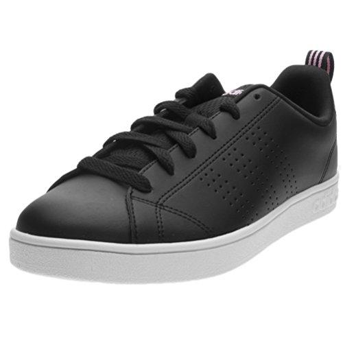 adidas Vs Advantage CL W, Zapatillas de Deporte Para Mujer Negro (Negbas / Negbas / Rossua 000)