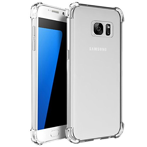 S7 Case Crystal Clear Slim Bumper Cases ImageLifestlye Shock Absorbing Transparent Protection from Drops and Impacts TPU Gel Rubber Soft Skin Cover for Samsung Galaxy S7 ()