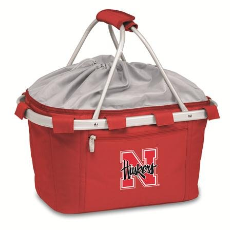 - PICNIC TIME NCAA Nebraska Cornhuskers Embroidered Metro Basket, One Size, Red