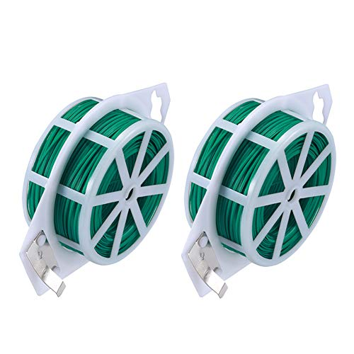 - AOMGD 2 Pack 328 Feet (Total 200 m) Twist Tie Multi-Function Garden Plant Wire Ties with Cutter/Cable Tie/Zip Tie/Coated Wire for Gardening, Home, Office