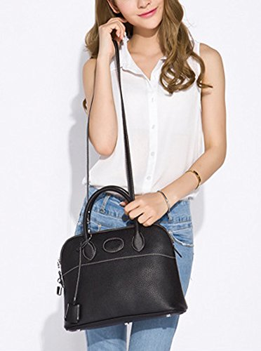 Hobo Ainifeel Bag Handbag Handle Shell Black Top Shoulder Padlock Bag Women's BgrBqx48
